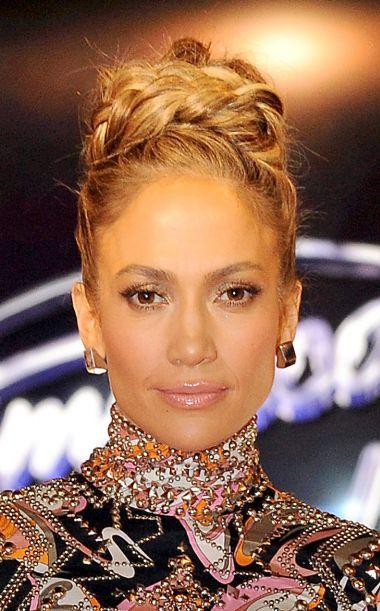 Coiffure Jennifer Lopez Chignon