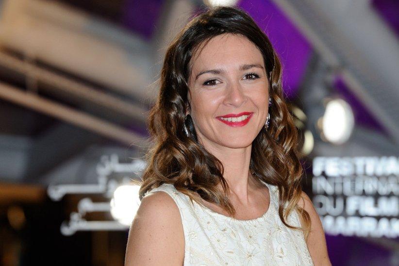 Emmanuelle Boidron prend la pose sur le tapis rouge du Festival International du Film de Marrakech en décembre 2015.