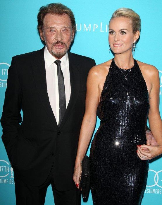 Johnny et Laeticia Hallyday aux 17ème Costume Designers Guild Awards, à Beverly Hills, le 17 février 2015.