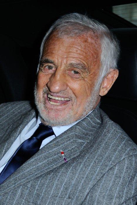 Jean-Paul Belmondo lors de la remise du prix du Quai des Orfèvres à Paris, le 15 novembre 2016.