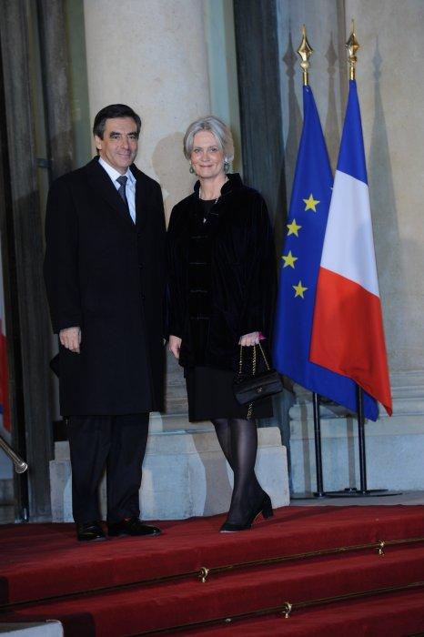 Francois Fillon et sa femme Pénélope Fillon lors d\