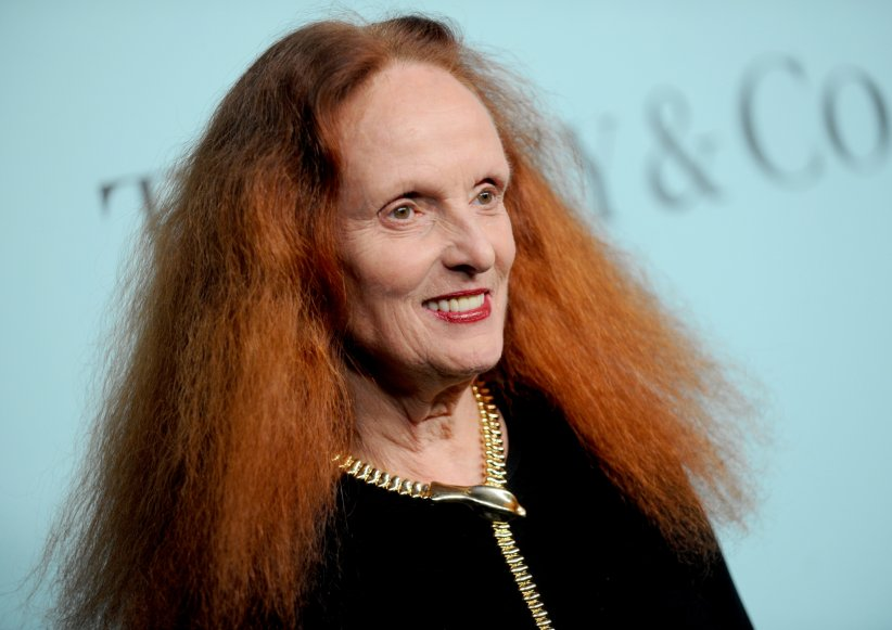 Grace Coddington au gala de Tiffany & Co. à New York, le 15 avril 2016.