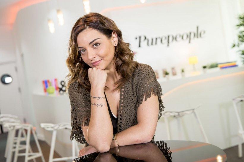 Priscilla Betti chez Webedia à Levallois-Perret, où elle a été interviewée par Purepeople, le 03 mai 2016.