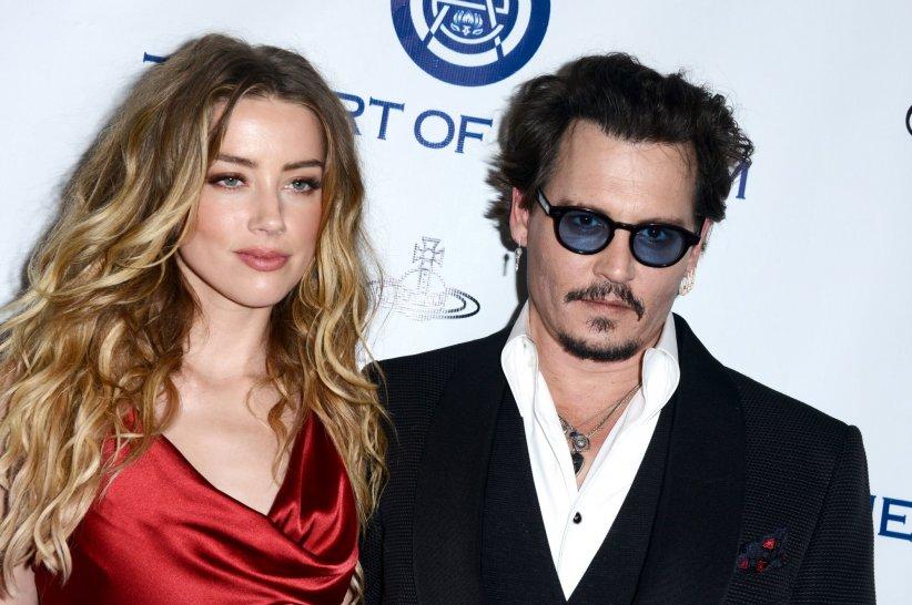 Amber Heard et Johnny Depp, en marge du Gala Art of Elysium Heaven à Los Angeles, le 9 janvier 2016.