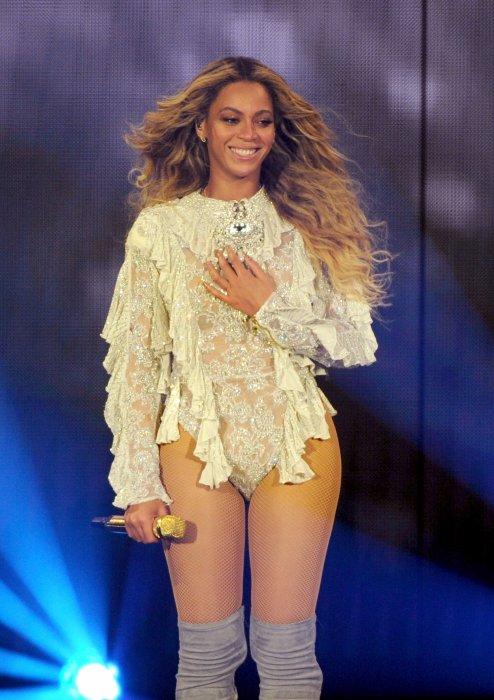 Beyoncé en concert à Pasadena Californie, le 14 mai 2016.