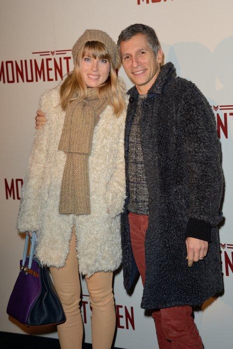 """Nagui et Mélanie Page à la première du film """"Monuments Men"""" à l\"""