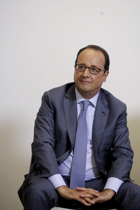 Le président François Hollande lors d\