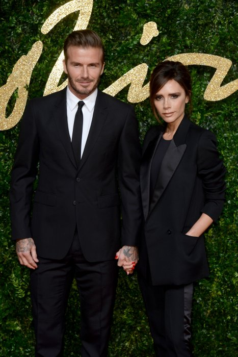 David et Victoria Beckham lors des British Fashion Awards à Londres, le 23 novembre 2015.