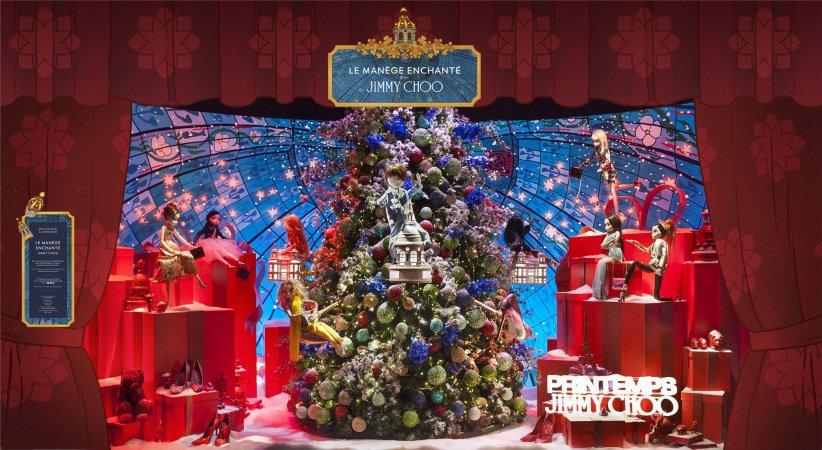 Au Printemps Haussmann, les vitrines de Noël attirent chaque année pas moins de 10 millions de visiteurs.