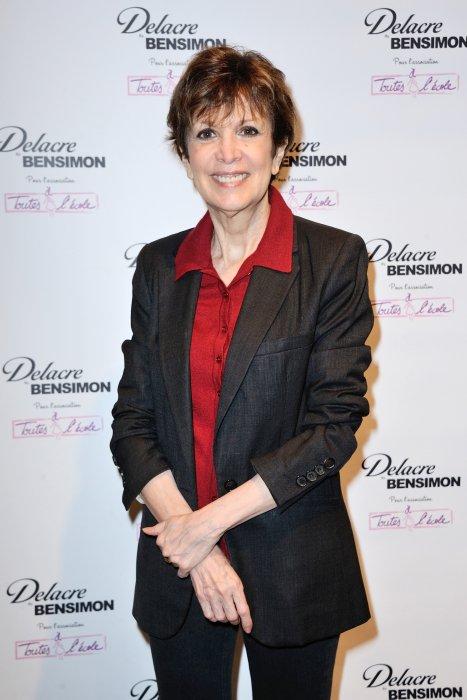 Catherine Laborde assiste à la conférence de presse Delacre by Bensimon à Paris, le 23 juin 2016.