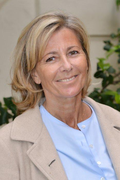Claire Chazal assiste à la conférence de presse de la Flamme Marie Claire à Paris, le 14 juin 2016.