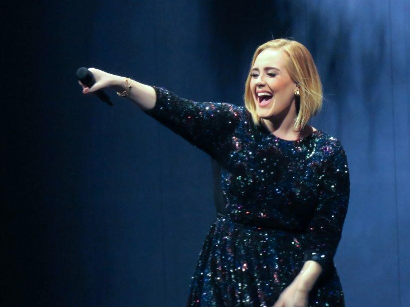Adele en concert à Nashville aux États-Unis, le 15 octobre 2016.