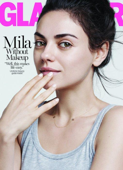 Mila Kunis fait la Une du Glamour US sans maquillage - Août 2016.
