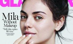 Mila Kunis pose sans maquillage en Une du Glamour US