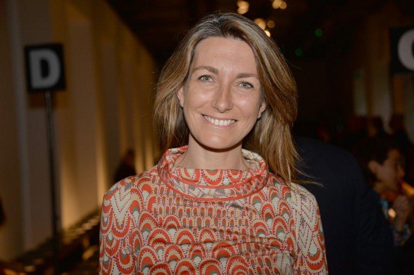 Anne-Claire Coudray, assiste au défilé prêt-à-porter Leonard collection printemps-été 2016, à Paris le 5 octobre 2015.