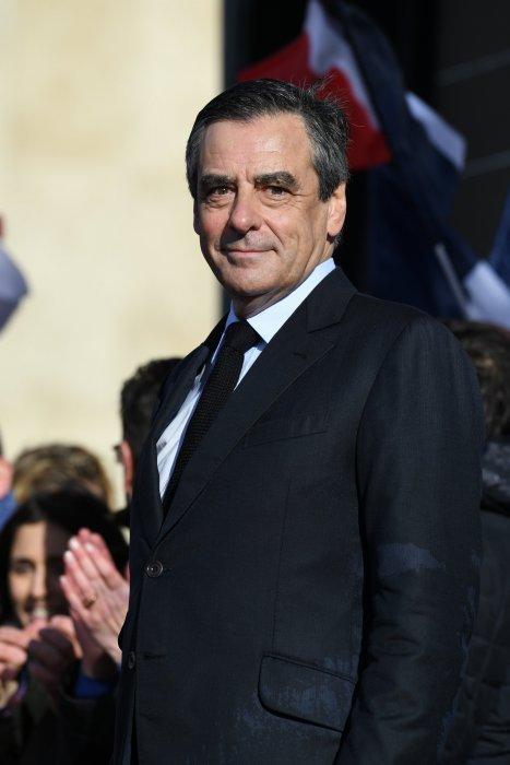 François Fillon lors du rassemblement de soutien des Républicains, place du Trocadéro à Paris, le 5 mars 2017.