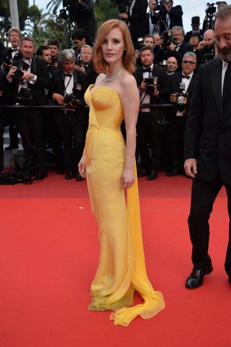 Jessica Chastain en Armani Privé au Festival de Cannes, le 11 mai 2016.
