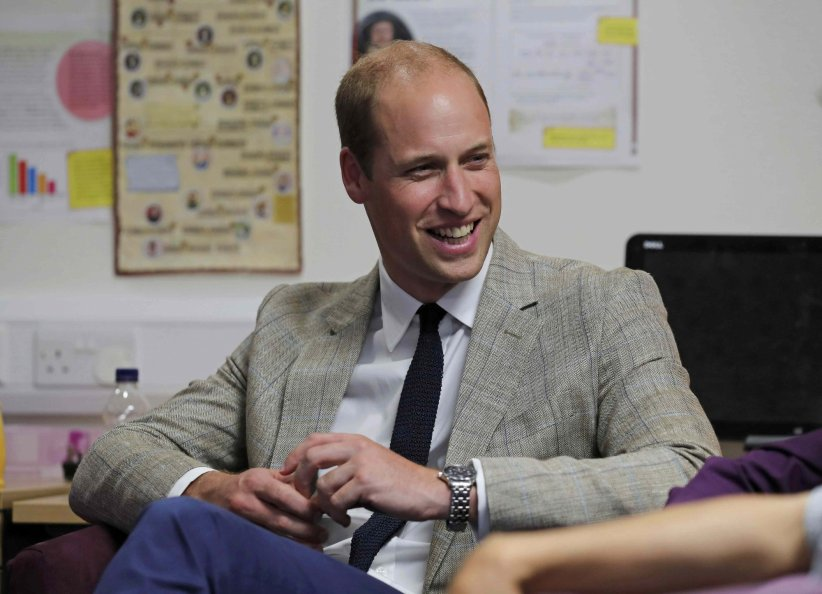 Le prince William et la duchesse de Cambridge rendent visite aux pensionnaires de l\