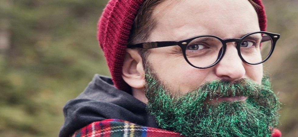 Glitter beard : la barbe pailletée pour les fêtes