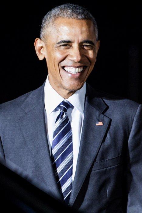 Le président Barack Obama arrive à l\