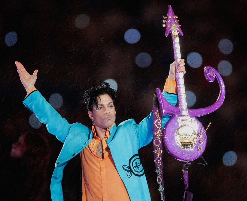 Prince durant le Super Bowl XLI à Miami, le 04 février 2007.