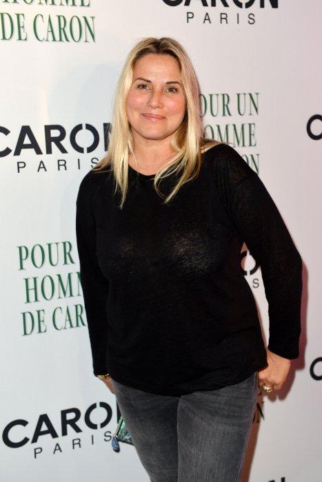 Sophie Favier était présente au 80e anniversaire des parfums Caron, à Paris, en 2014.