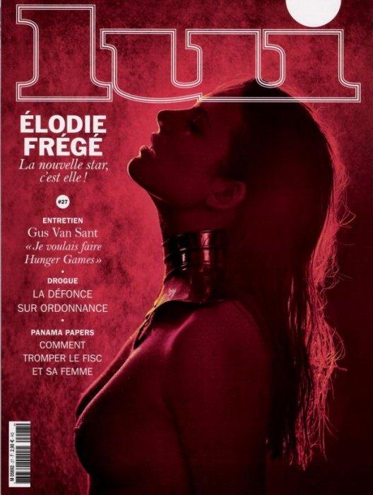 Elodie Frégé, cover-girl du mois de mai du magazine  Lui