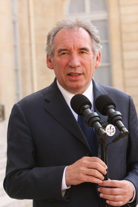 Francois Bayrou lors d\