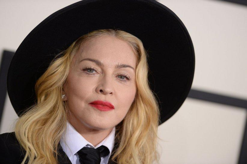 Madonna en marge des 56e Grammy Awards à Los Angeles, le 26 janvier 2014.
