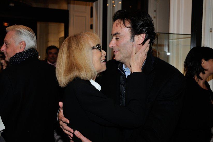 Anthony Delon et Mireille Darc lors du vernissage de l\