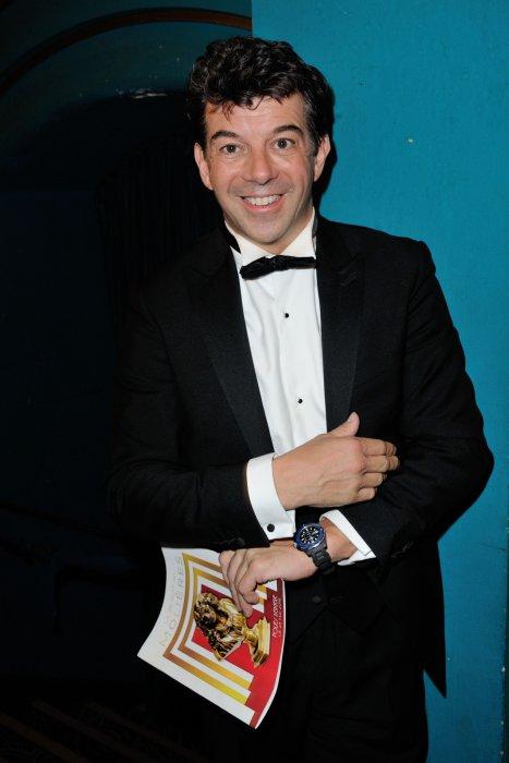 Stéphane Plaza assiste à la 28e cérémonie des Molières à Paris, le 23 mai 2016.