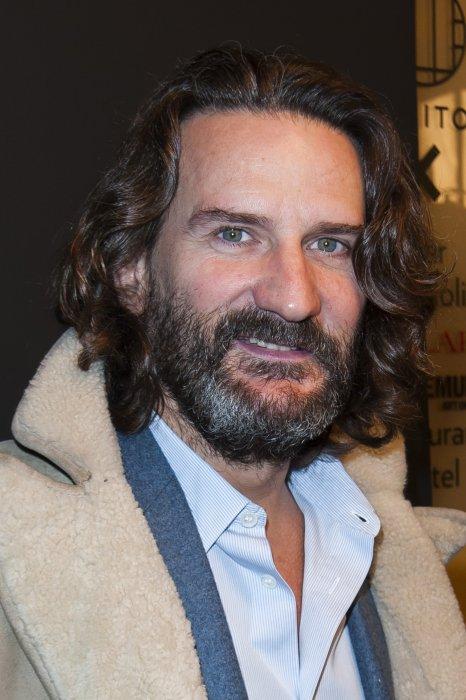 Frédéric Beigbeder au défilé Etam automne-hiver 2015-2016 à la Piscine Molitor à Paris, le 3 mars 2015.