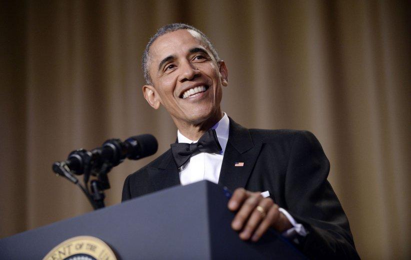 Barack Obama lors du dîner de l\