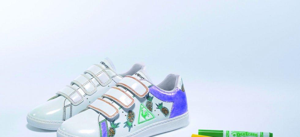 Le Coq Sportif x Crayola : des baskets enfants 100% personnalisables