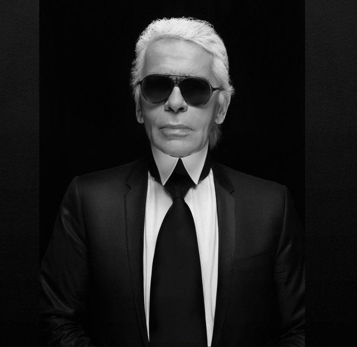 Autoportrait de Karl Lagerfeld.