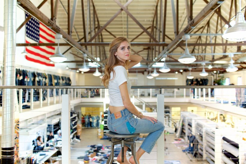 Chiara Ferragni dans les ateliers Levi\