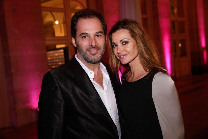 Ingrid Chauvin et son époux, Thierry Peythieu, lors des Trophées du Film francais en 2014.