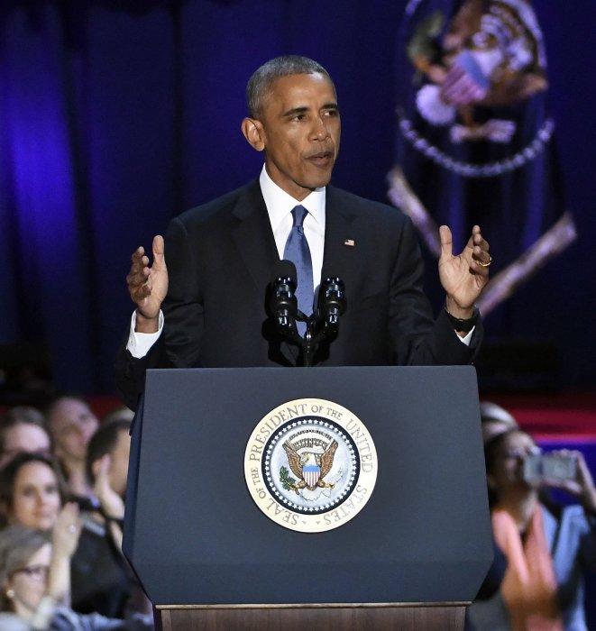 Barack Obama lors de son discours d\