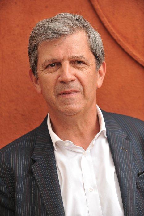 Patrick Chêne posant au village des Internationaux de France de tennis de Roland-Garros à Paris, le 3 juin 2014.