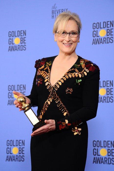 Meryl Streep lors de la cérémonie des Golden Globes à Los Angeles, le 8 janvier 2016.