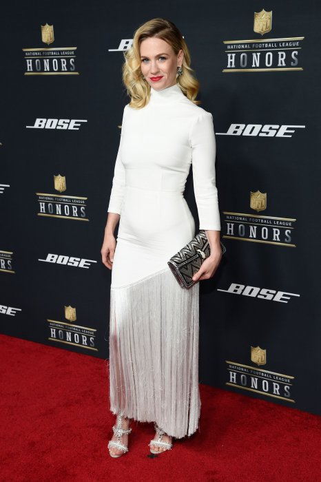 January Jones lors de la 5ème cérémonie NFL Honors au Bill Graham Civic Auditorium à San Francisco, le 6 février 2016.
