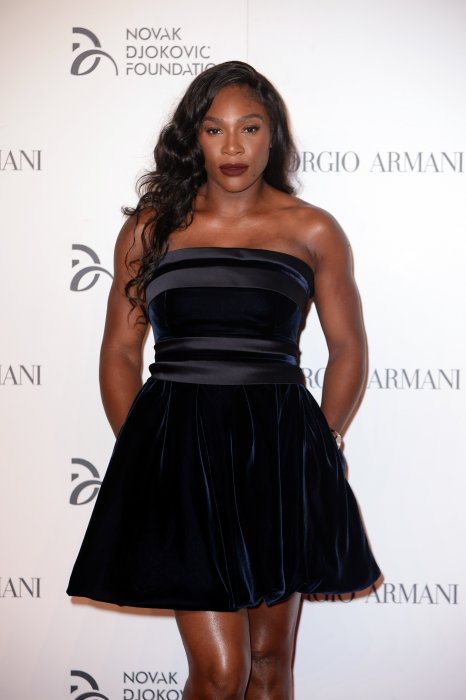 Serena Williams lors du gala de charité de la fondation Novak Djokovic à Milan, le 20 septembre 2016.