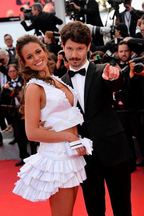 Lucie Lucas et son époux lors du 68e Festival de Cannes, le 19 mai 2015.