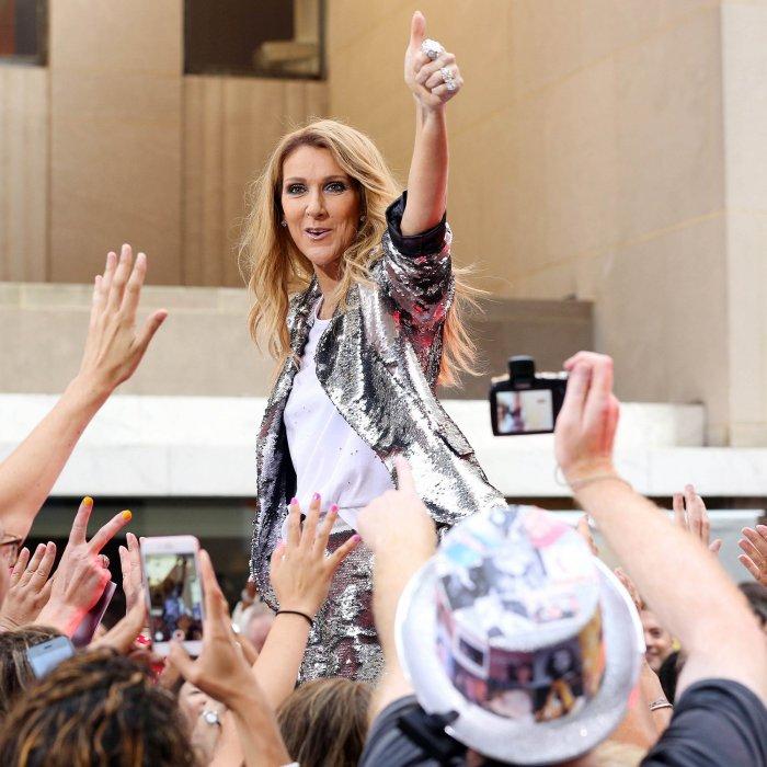 Céline Dion en pleine performance pendant l\