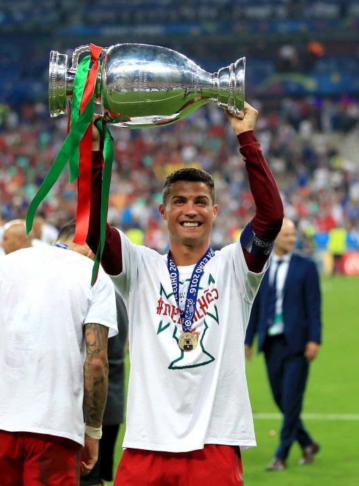 Cristiano Ronaldo, lors de la finale de l\