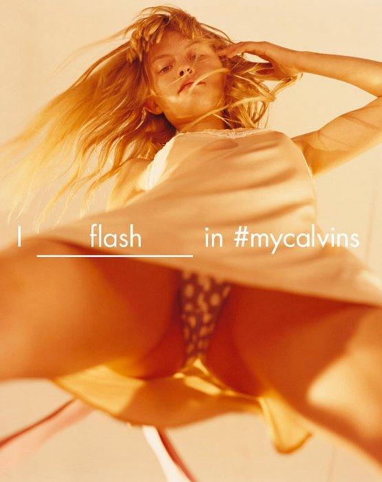Klara Kristin pose en petite culotte pour Calvin Klein.