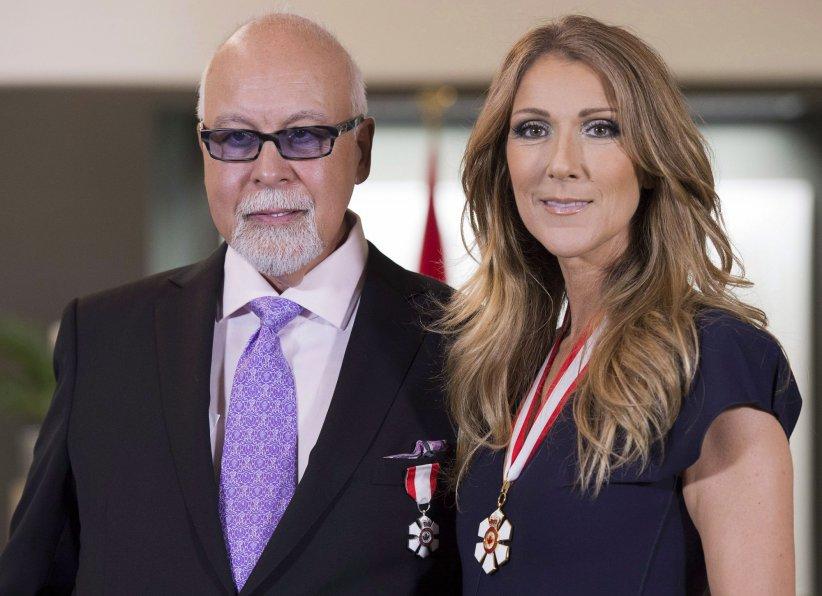 Céline Dion et René Angélil lors de la remise de l\