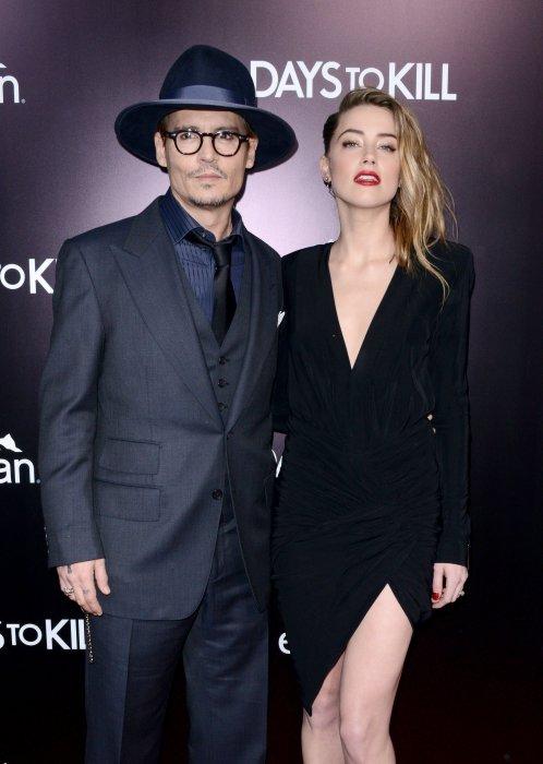 Johnny Depp et Amber Heard assistent à la première du film 3 Days To Kill à Los Angeles, le 12 février 2014.