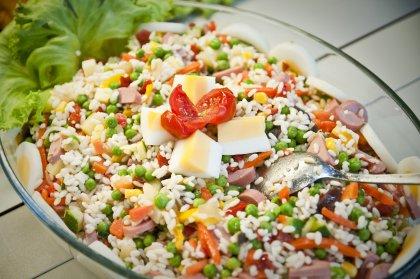 Salade de riz aux knackis