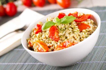 Salade d'orge perlée au pesto